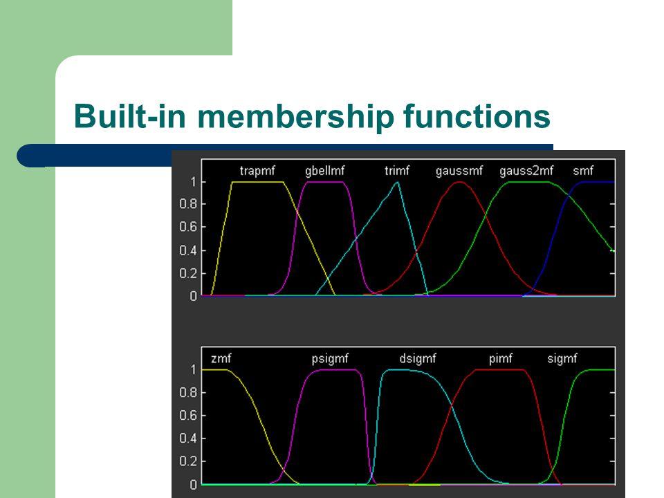 Built-in membership functions