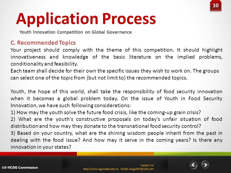 Application Process 10 C.