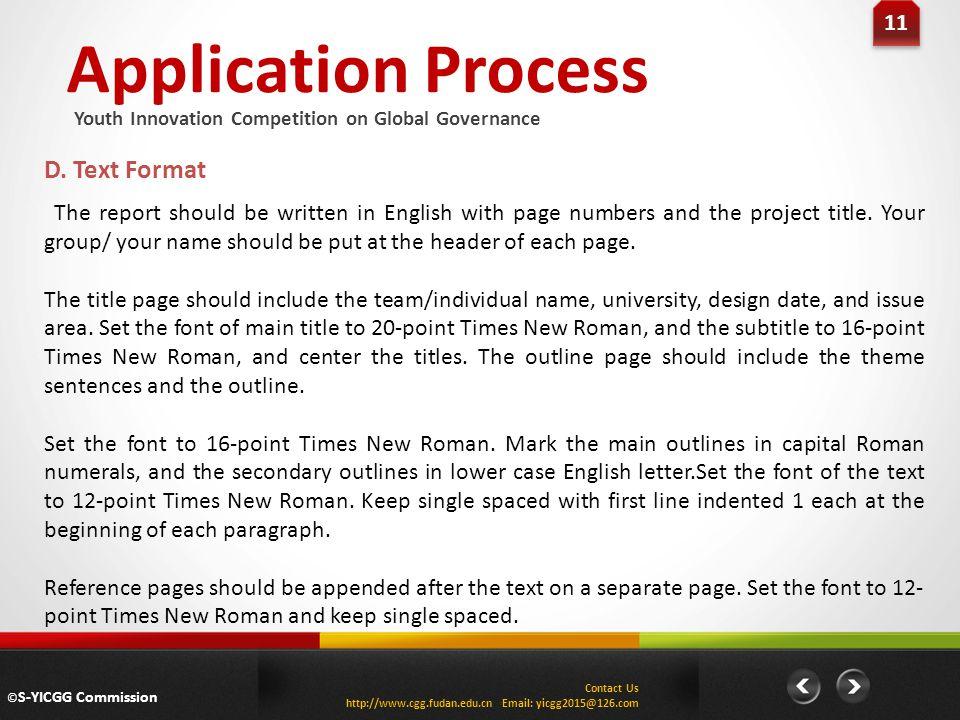 Application Process 11 D.