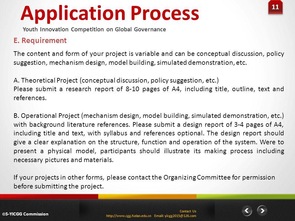 Application Process 11 E.
