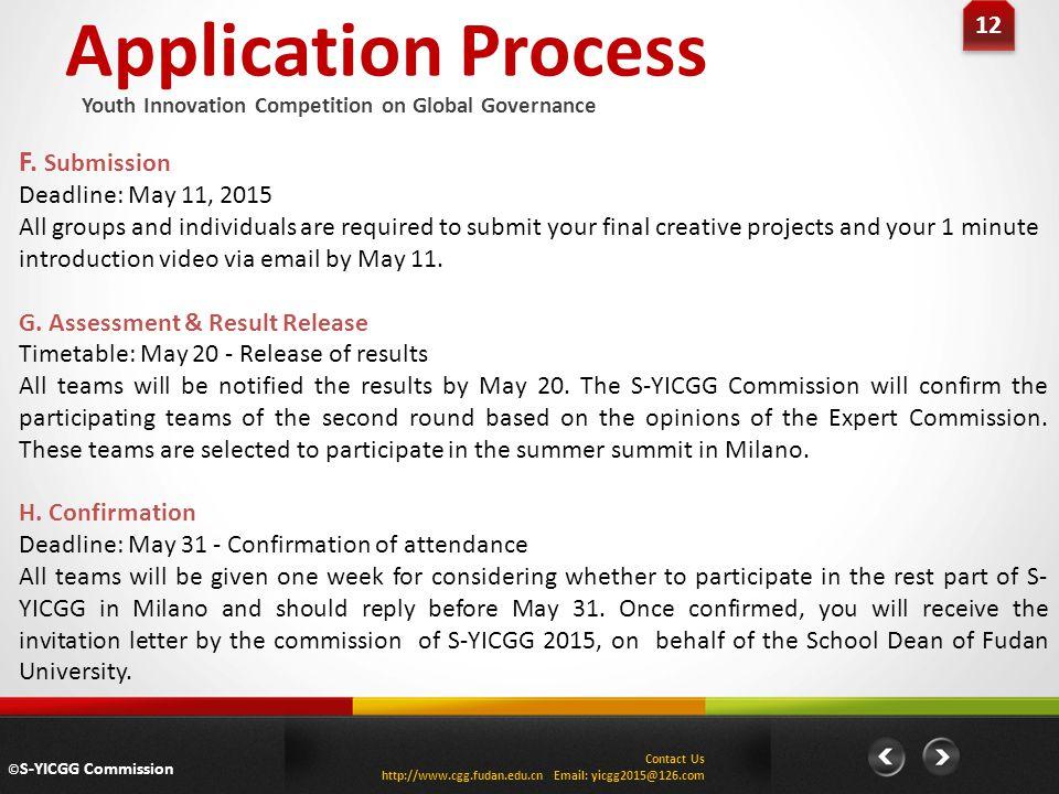 Application Process 12 F.