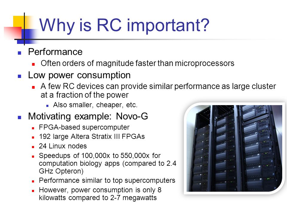 Why is RC important.
