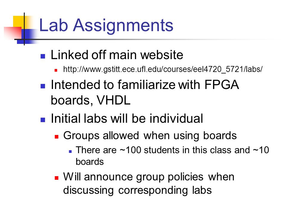 Research Project 2 options Assigned project Proposed project Assigned project Most of the class will do this project There will several alternatives for different group sizes EDGE students will have a project appropriate for a individual participant EDGE students can participate in groups if desired Important: I will require a minimum number of groups to deal with the few boards Likely 3-4 per group