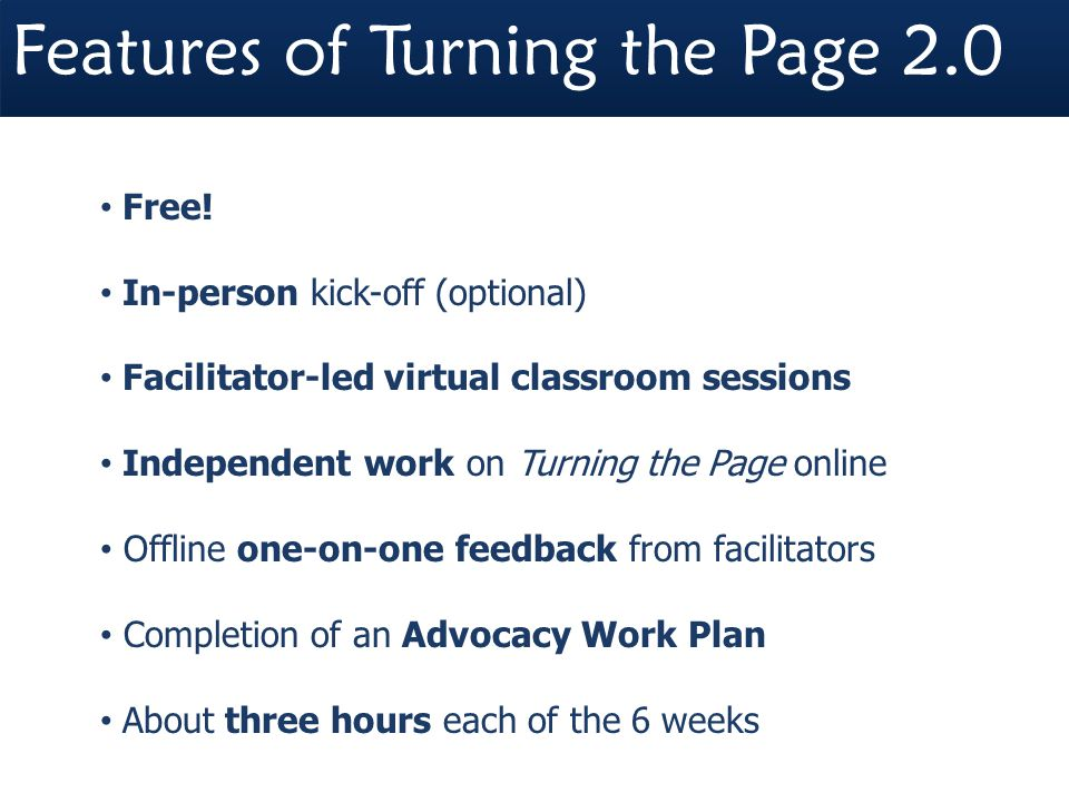 Features of Turning the Page 2.0 Free.