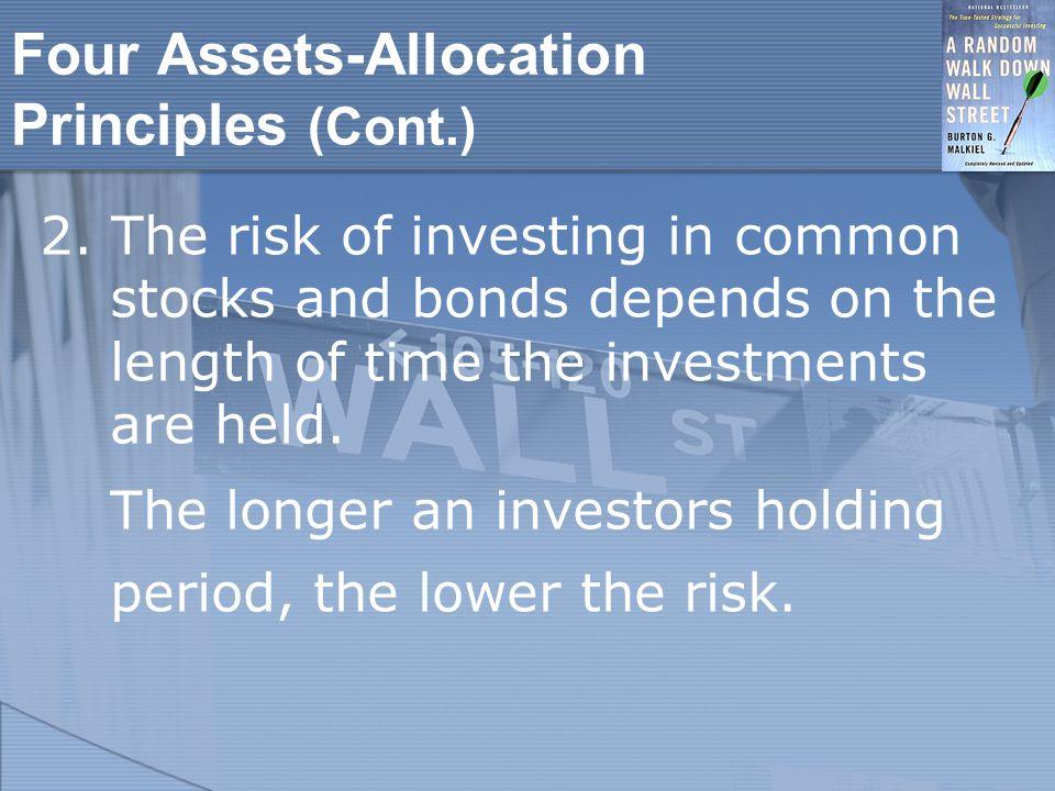Four Assets-Allocation Principles (Cont.) 2.