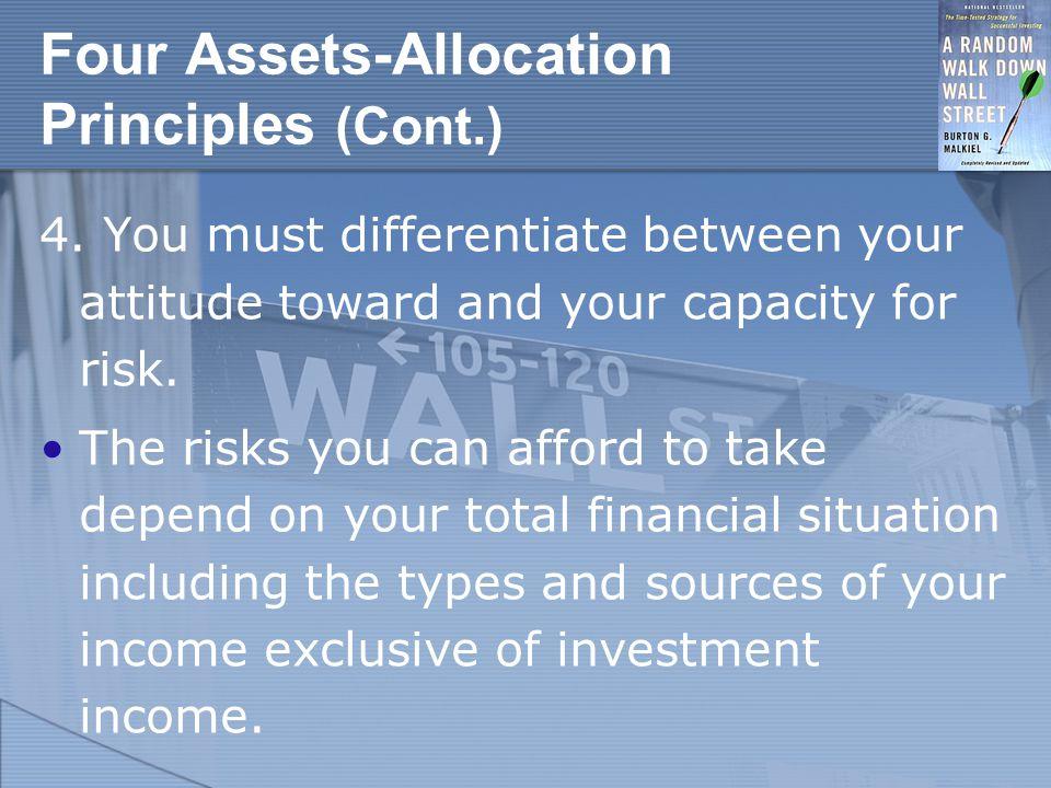 Four Assets-Allocation Principles (Cont.) 4.