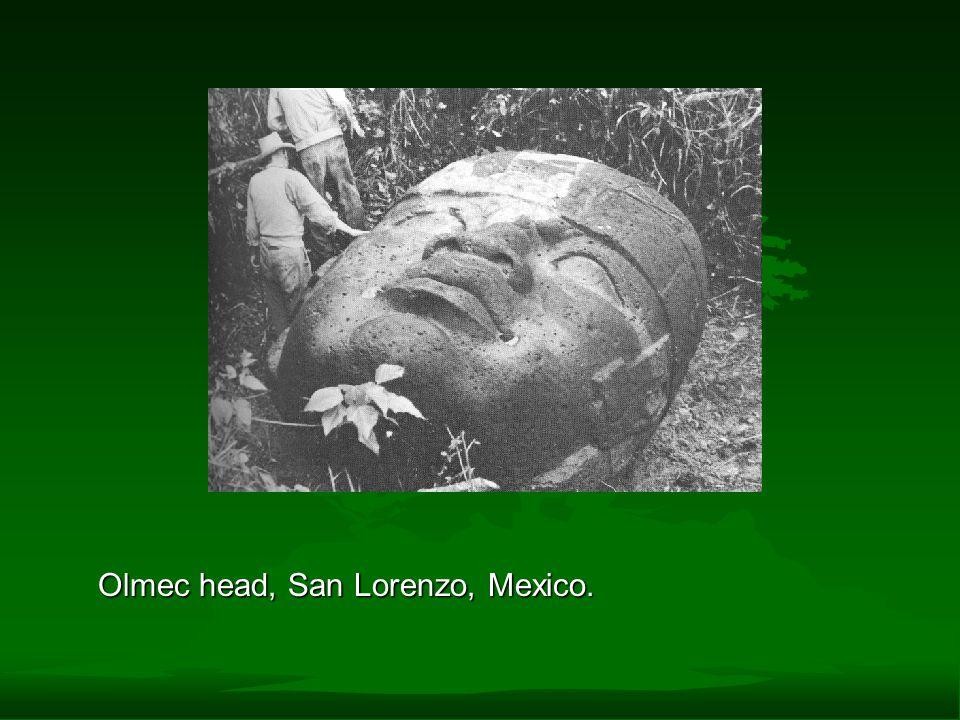Olmec head, San Lorenzo, Mexico.