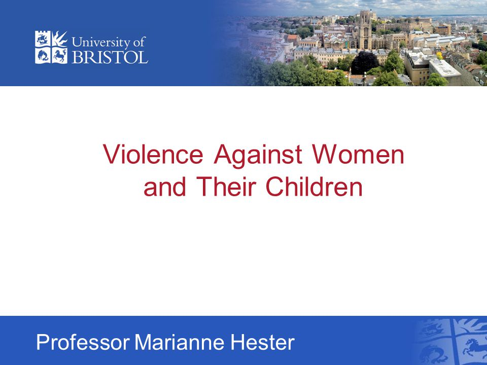 Violence Against Women and Their Children Professor Marianne Hester