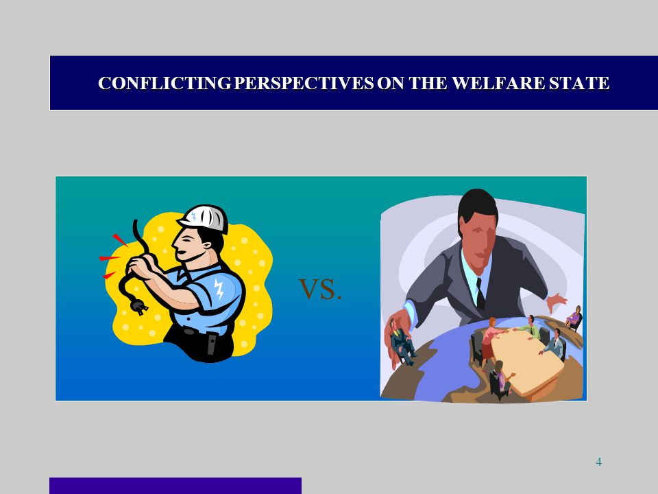 4 CONFLICTING PERSPECTIVES ON THE WELFARE STATE VS.