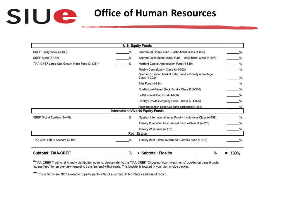 You may turn in the completed form to: Benefits staff in Human Resources Rendleman Hall, Room 3210, P.O.