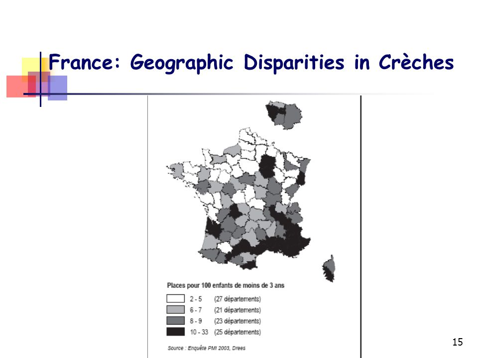 15 France: Geographic Disparities in Crèches