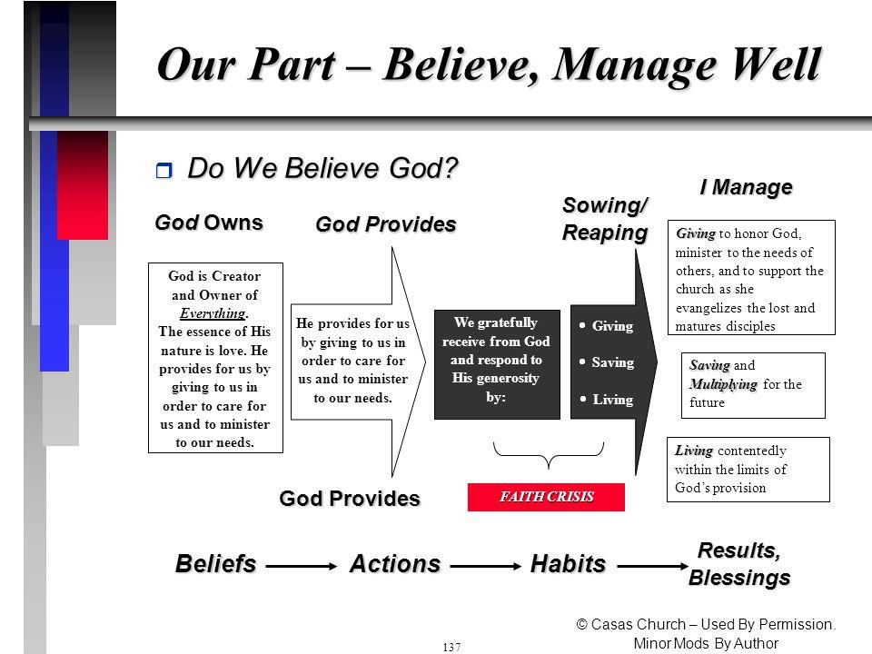 136 Step 3 - God Provides do not worry Mat 6:25 NIV