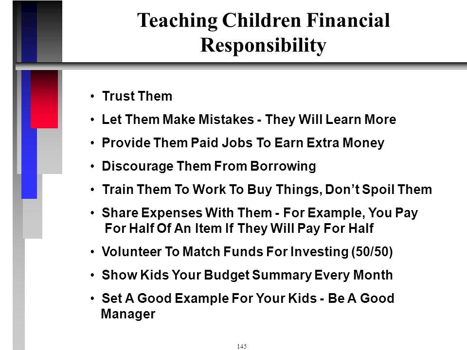 144 Teaching Children Financial Responsibility Teach Kids God's 3 Step $ Plan & Biblical Principles God Owns, I Manage, God Provides Teach Kids To Giv