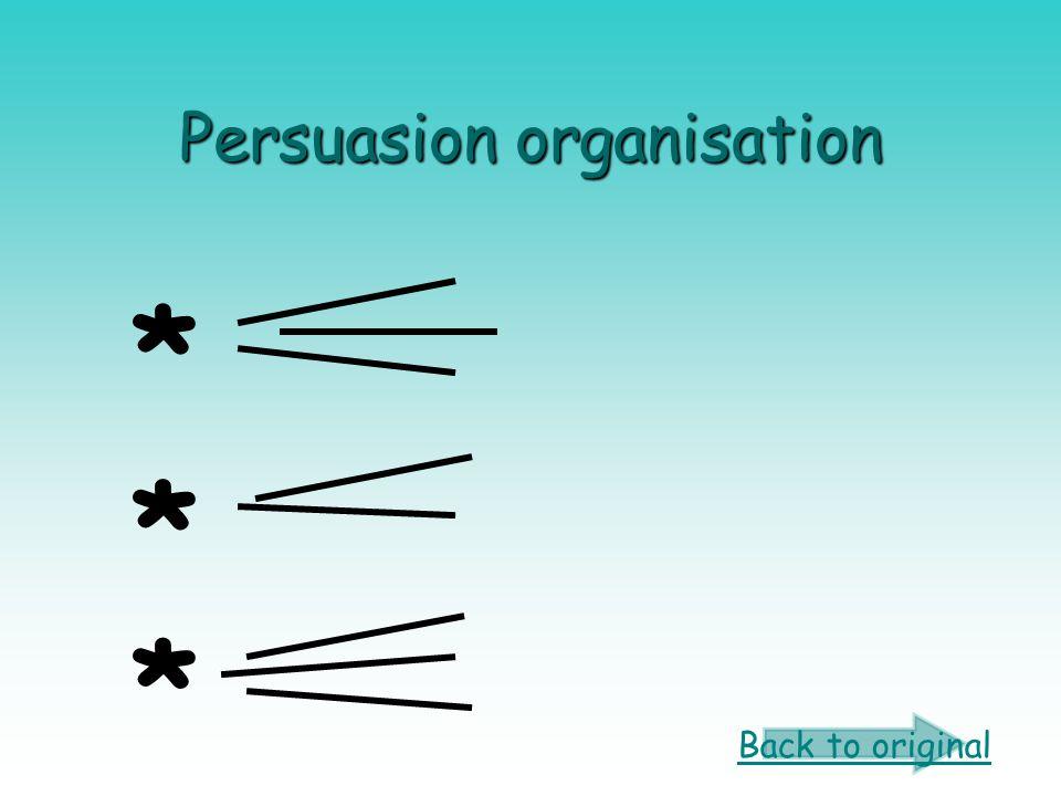 Persuasion organisation * * * Back to original