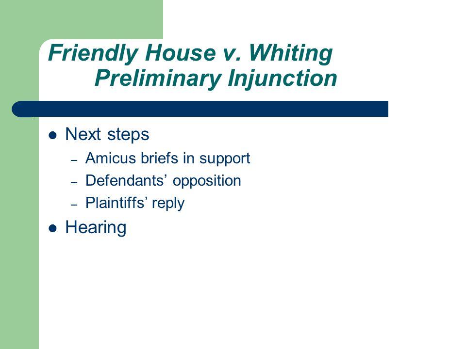 Friendly House v.
