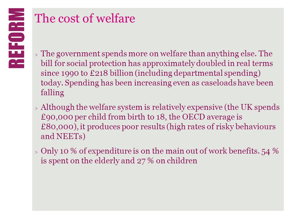 The cost of welfare > Budget 2010 proposed £11.0 billion in savings from welfare measures.