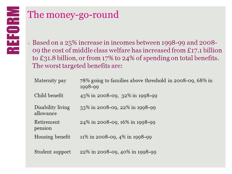 The money-go-round > The tax-benefit position of the middle classes also reflects changes in taxation and benefits in kind.