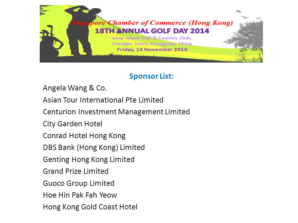 Sponsor List: Angela Wang & Co.