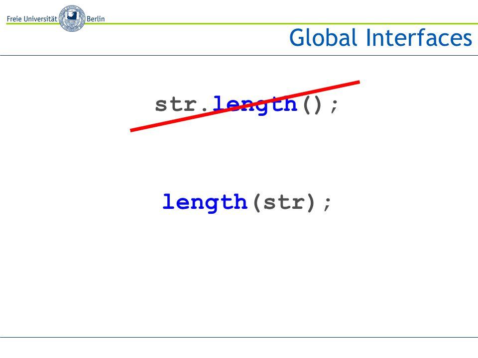 str.length(); length(str);