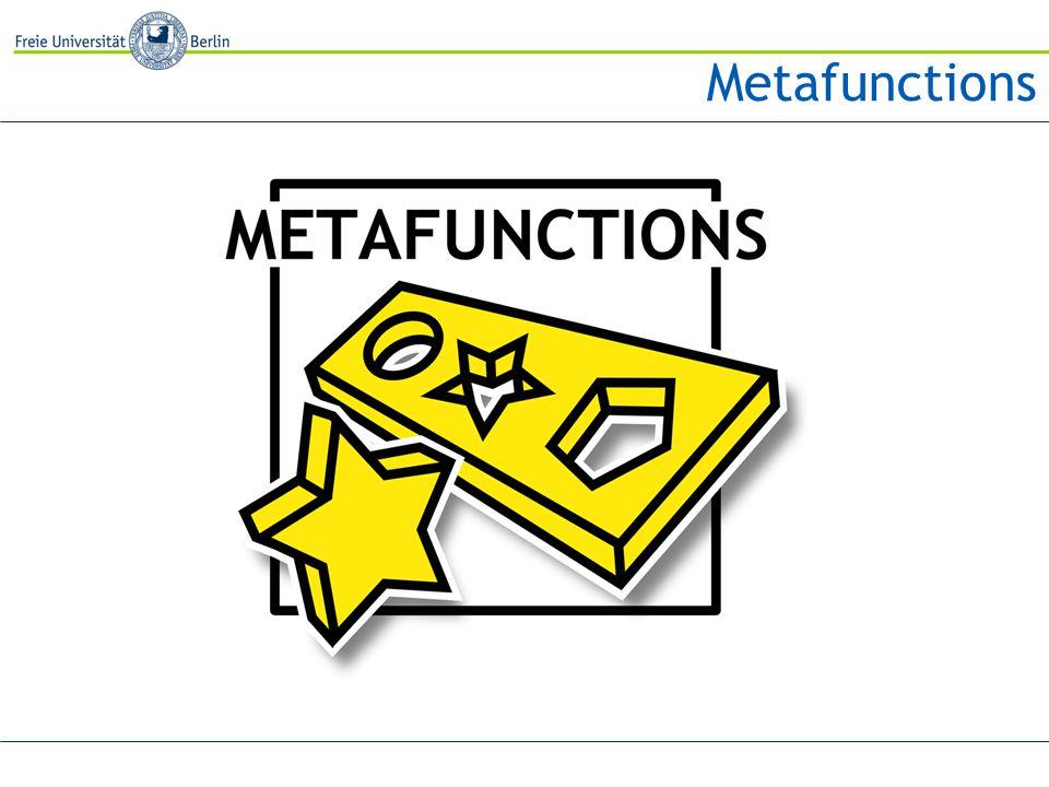 Metafunctions