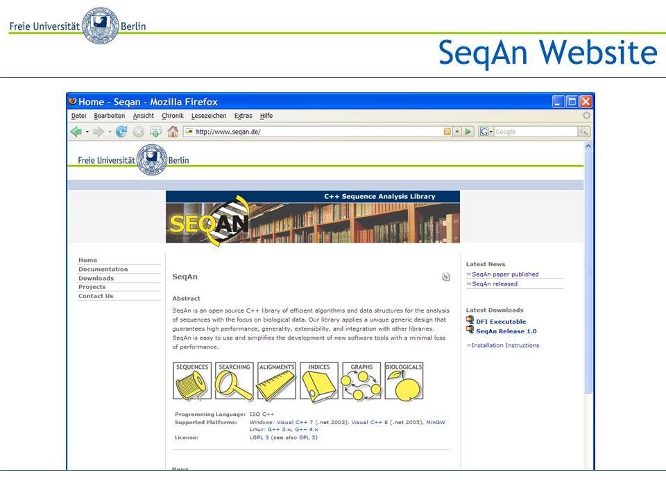 SeqAn Website