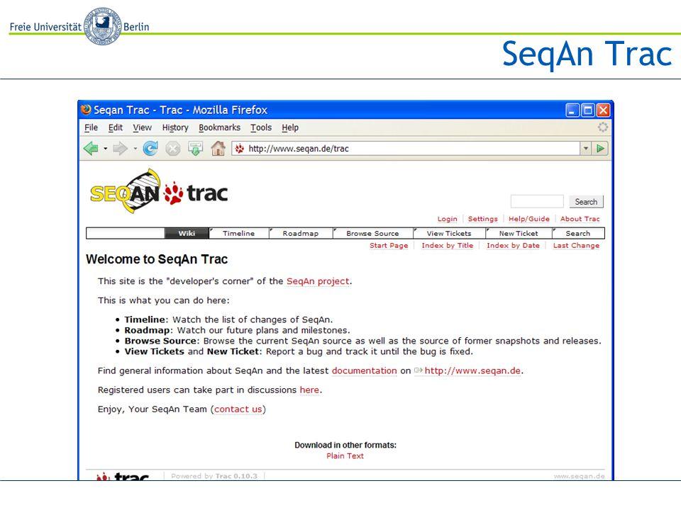 SeqAn Trac