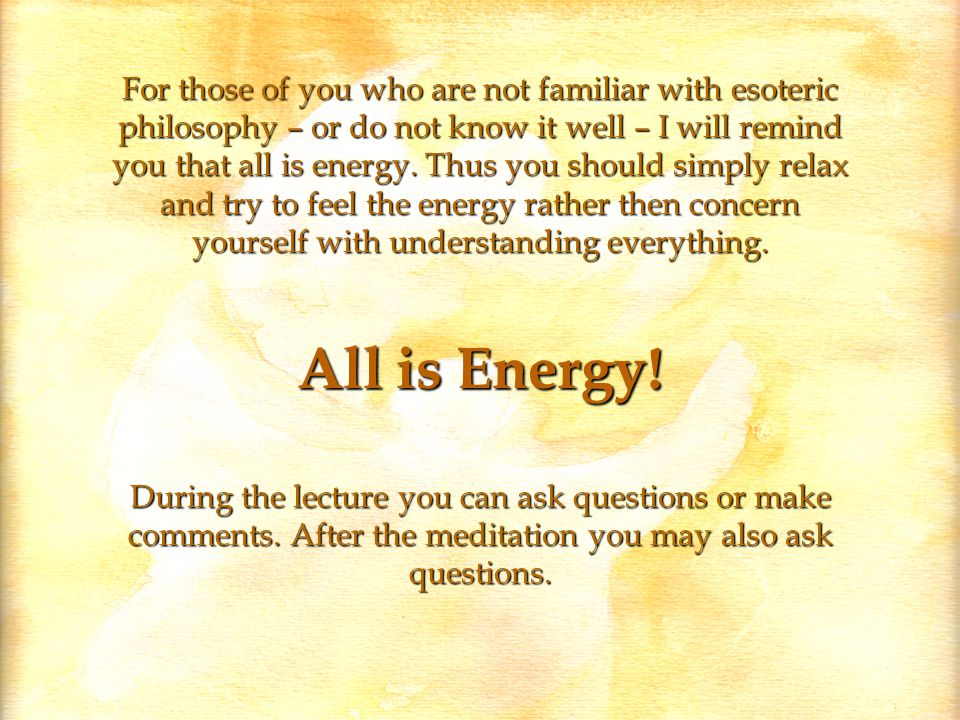 All is Energy.