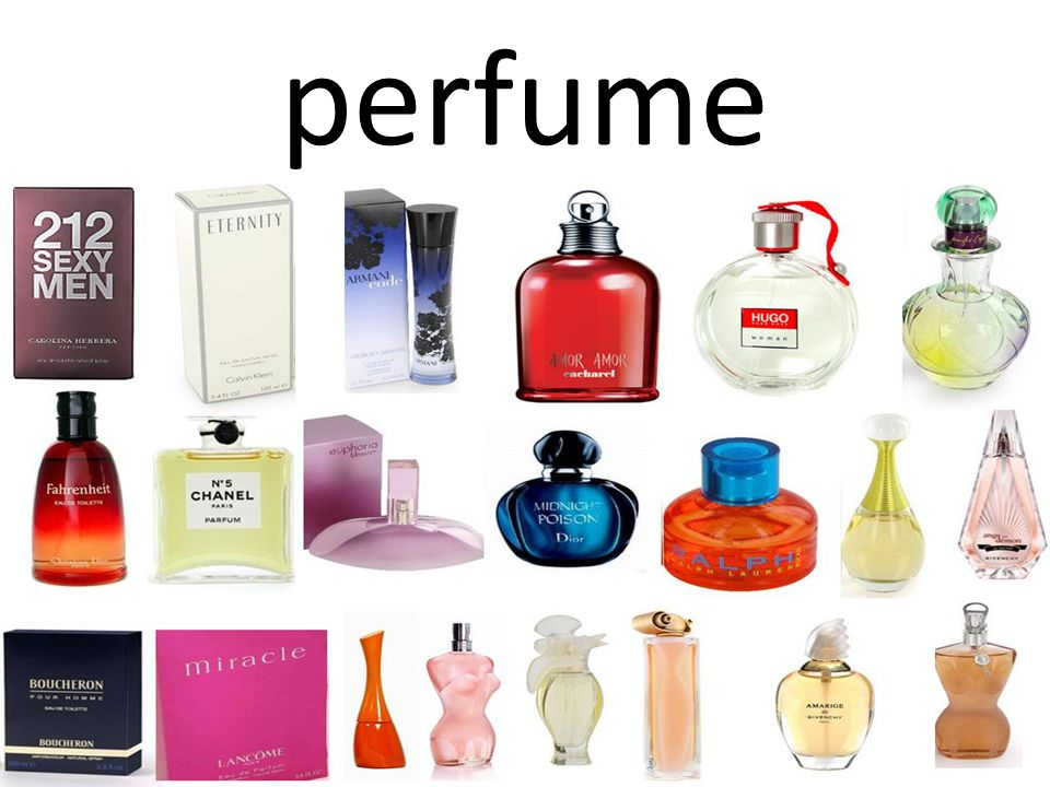 (Noun) a fragrant liquid that is sprayed or rubbed on the skin or clothes to give a pleasant smell (Verb) to give something a pleasant or sweet smell Adjective forms: perfumed, perfumy
