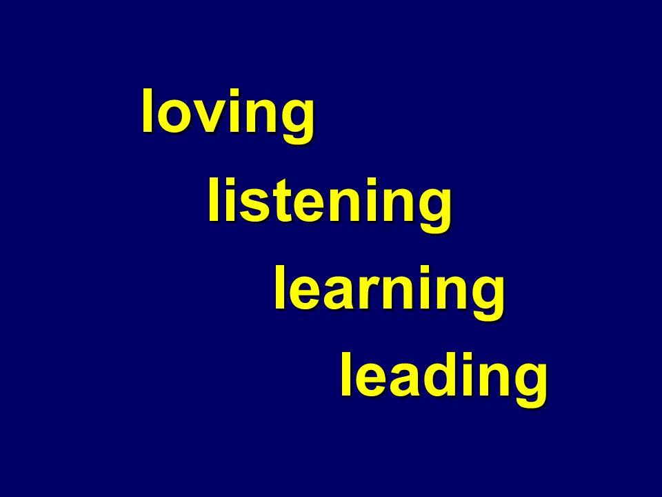 lovinglisteninglearningleading