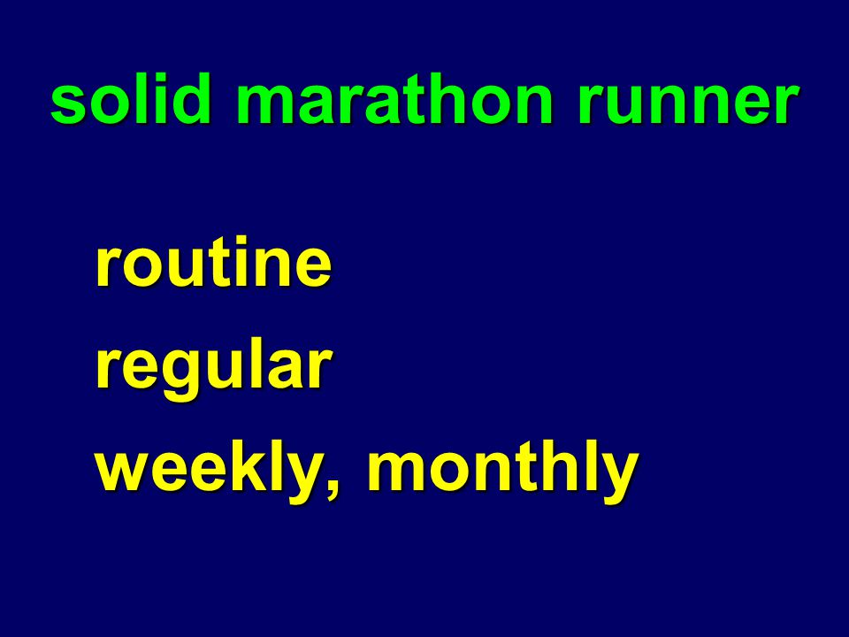 solid marathon runner routineregular weekly, monthly