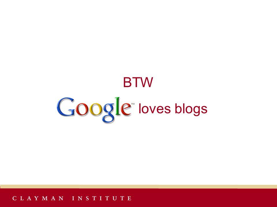BTW loves blogs