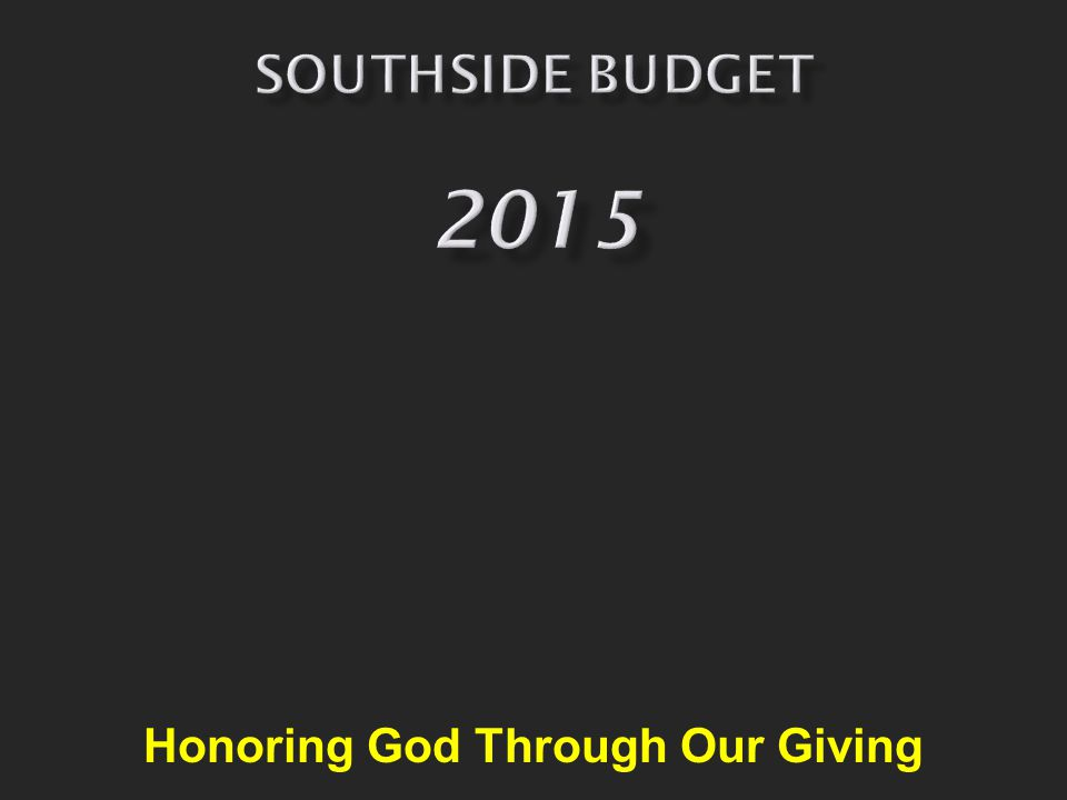 Honoring God Through Our Giving