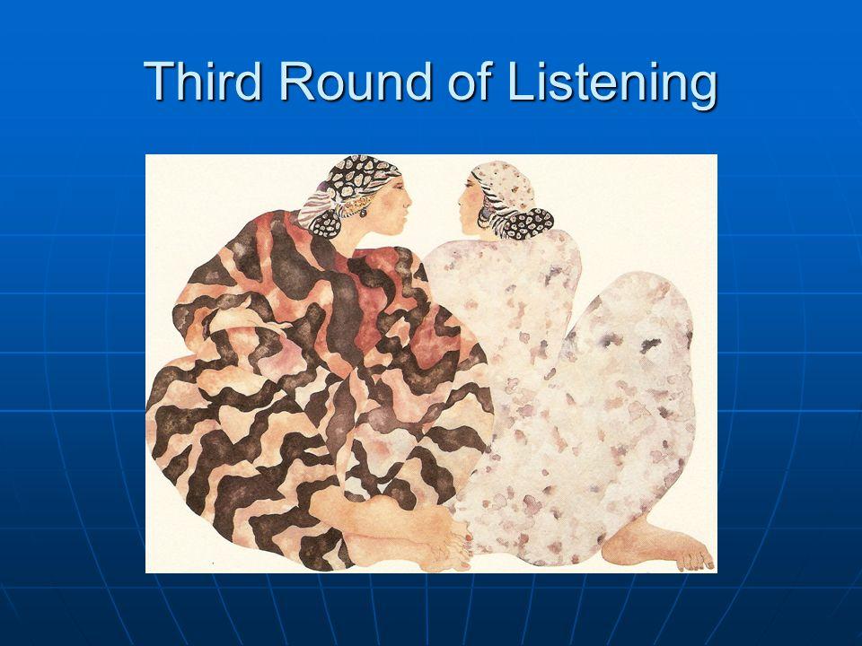 Third Round of Listening