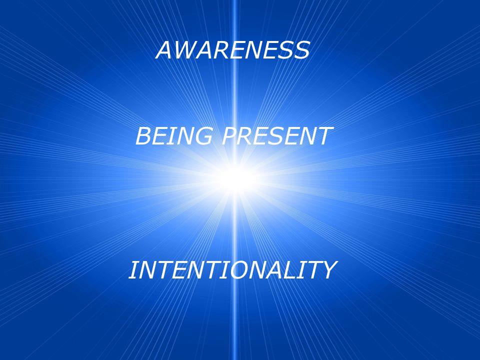 AWARENESS BEING PRESENT INTENTIONALITY