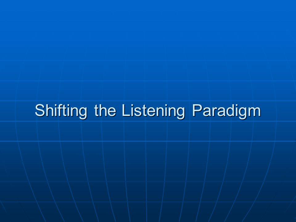 Active Listening….
