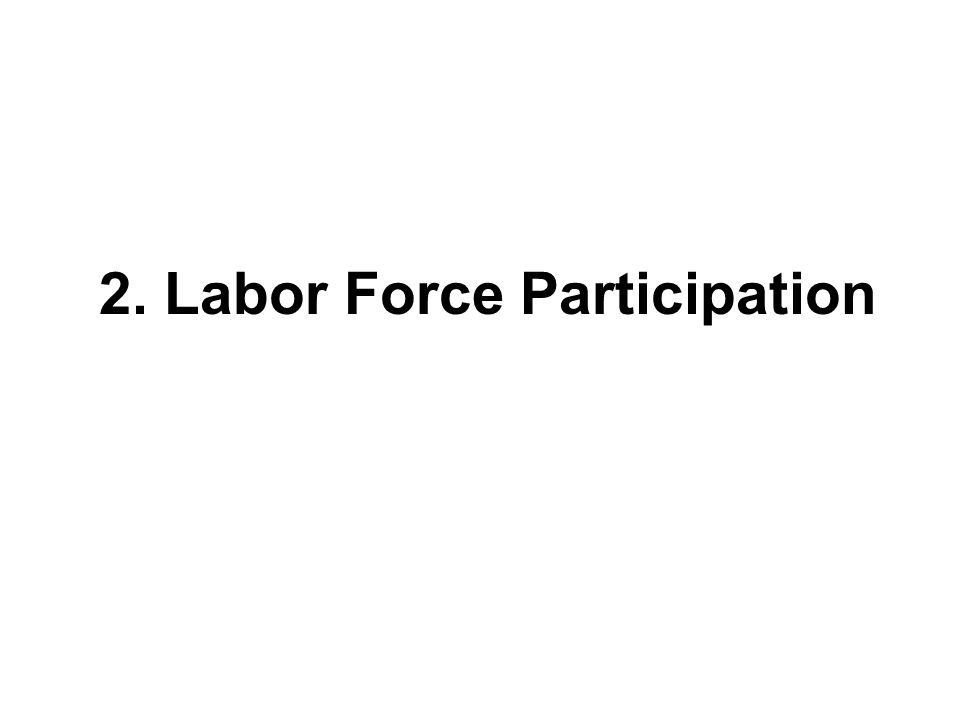 2. Labor Force Participation