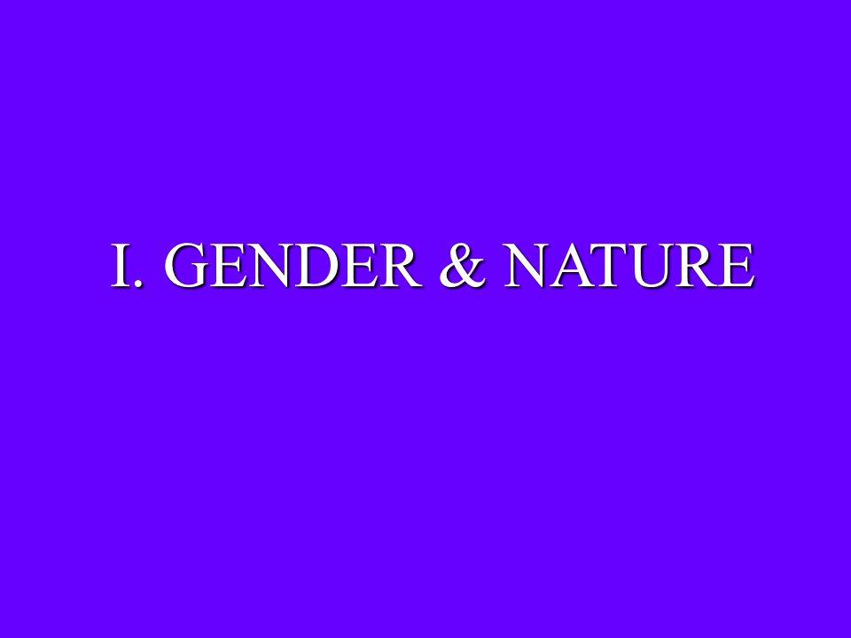 I. GENDER & NATURE