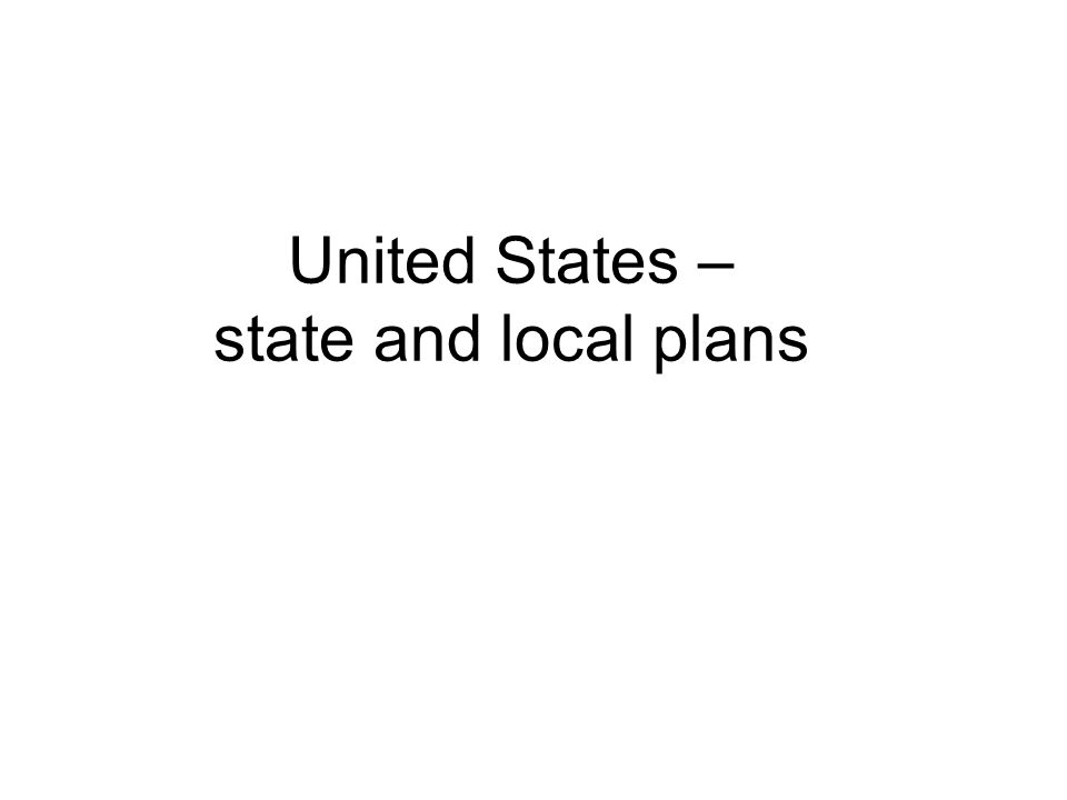 United States – state and local plans