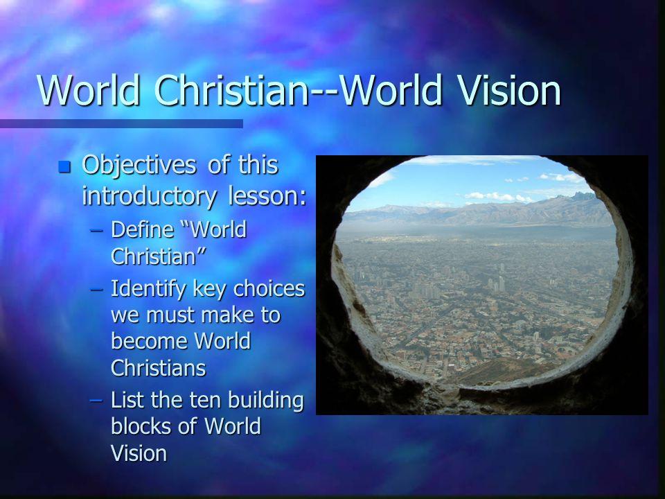 Worldly Christian vs.