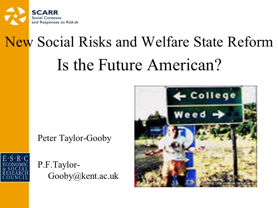 New Social Risks and Welfare State Reform Is the Future American.