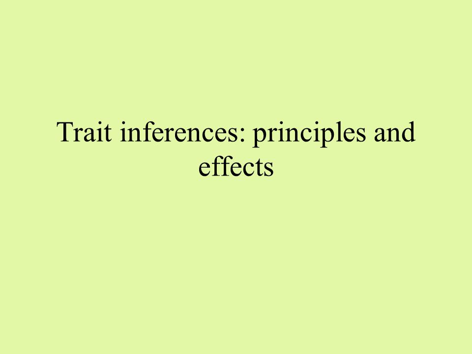 Descriptive inferences used: When enough information When looking for explanation and not evaluation In a neutral situation that enables distancing Higher level of cognitive devlopment, cognitive complexity