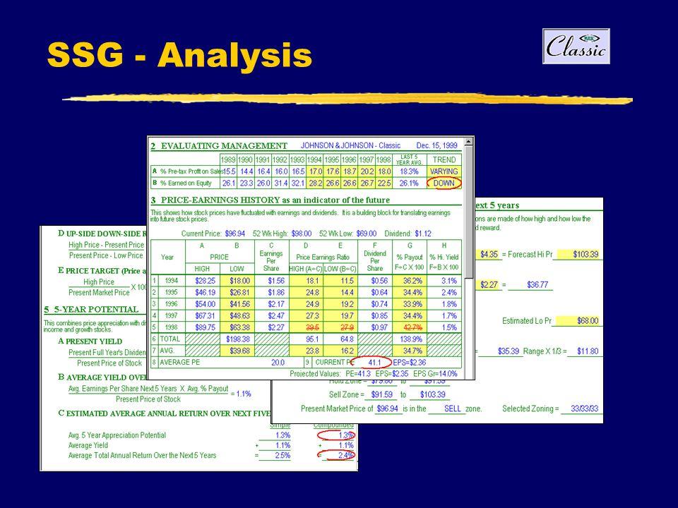 SSG - Analysis