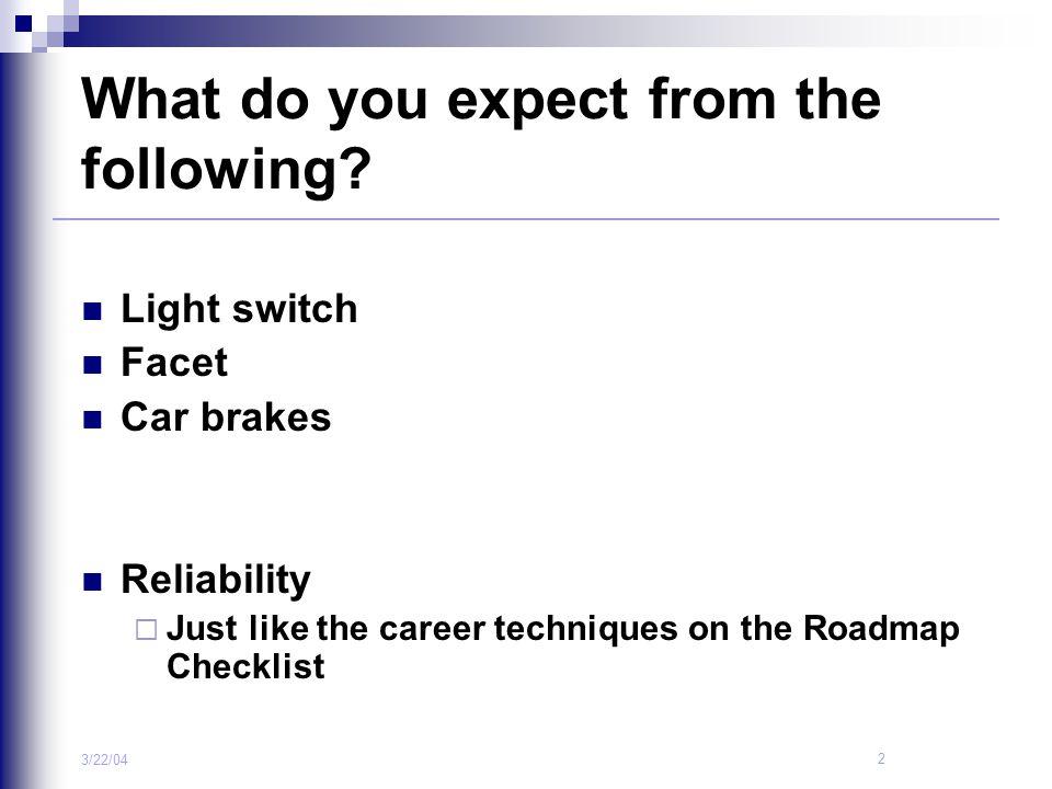 3 3/22/04 Where Am I Roadmap Steps 1.Orientation 2.