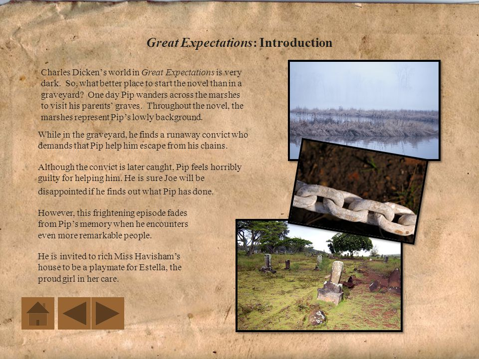 Great Expectations: Introduction Take notes on the introduction and background to Great Expectations.