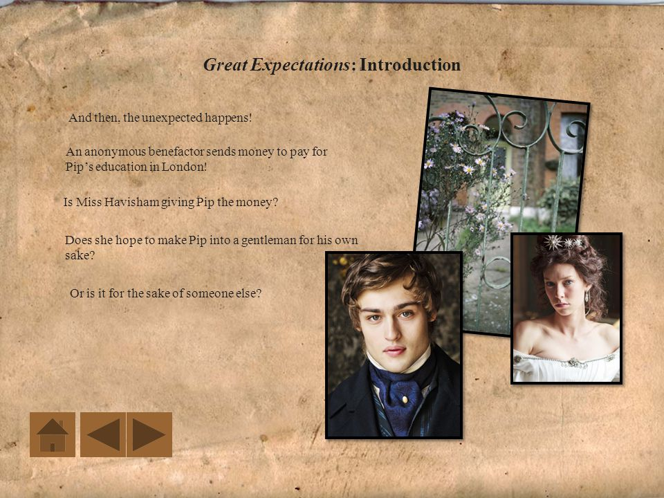 Great Expectations: Introduction Years ago, Miss Havisham's fiancé stood her up at the altar.
