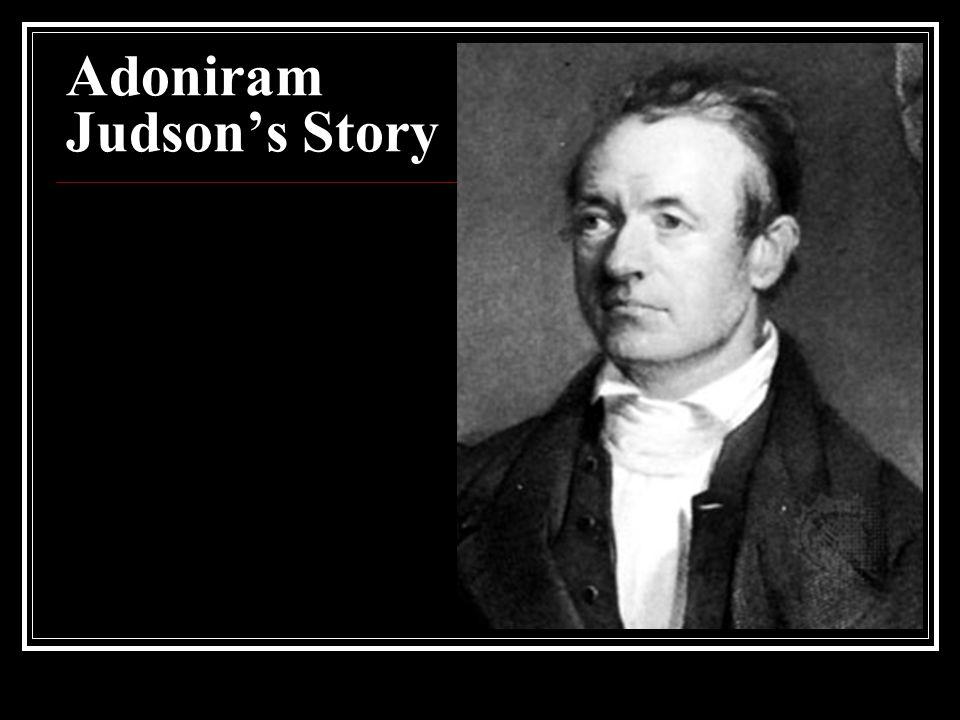 Adoniram Judson's Story