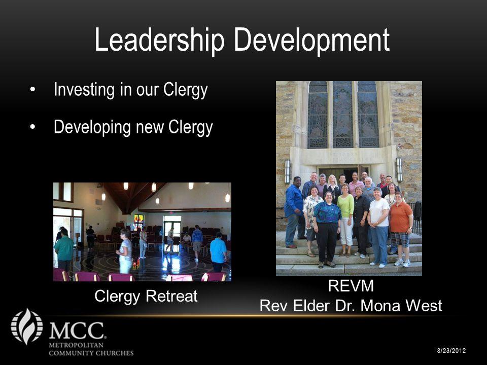 8/23/2012 Leadership Development REVM Rev Elder Dr.