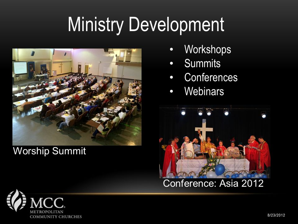 Worship Summit 8/23/2012 Ministry Development Workshops Summits Conferences Webinars Conference: Asia 2012