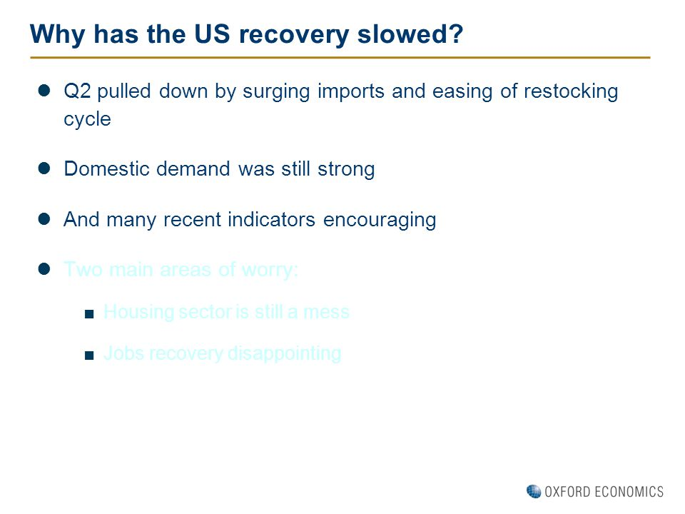 Why has the US recovery slowed.