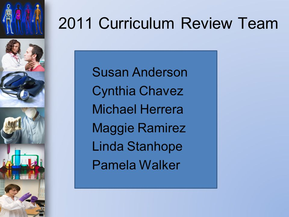 What is it like to be part of the Health Science Curriculum Team?